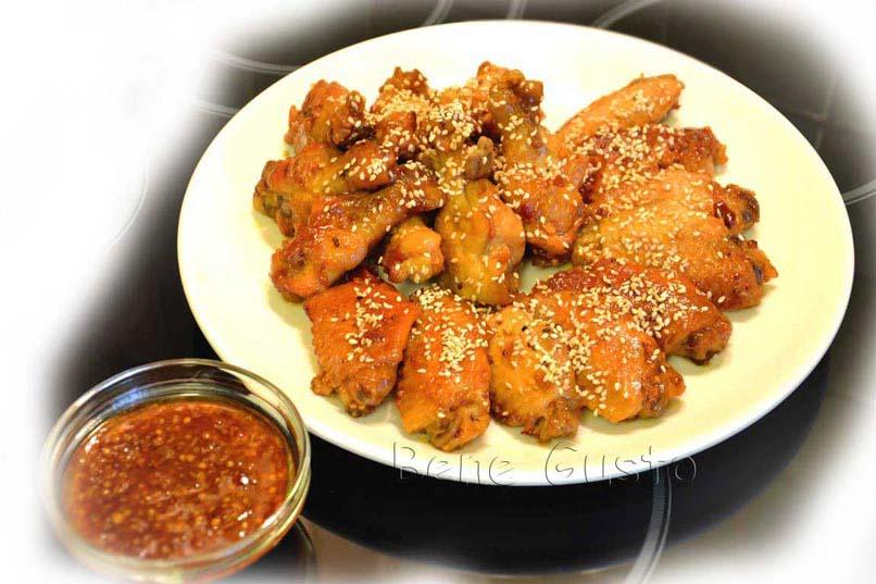 блюдо куриные крылья