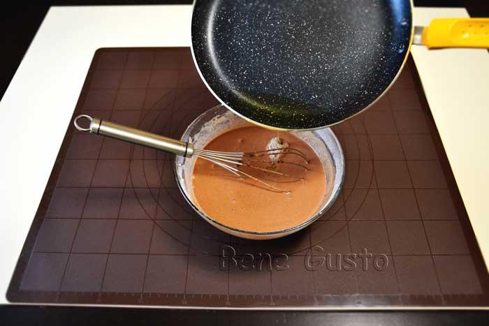тесто на шоколадные блинчики