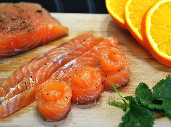 Как засолить красную рыбу с апельсином
