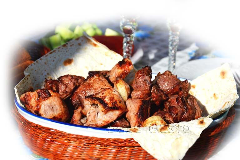 шашлык из свинины в маринаде