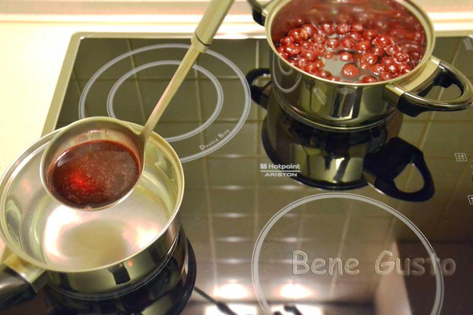 сок с ягод для слоя торта