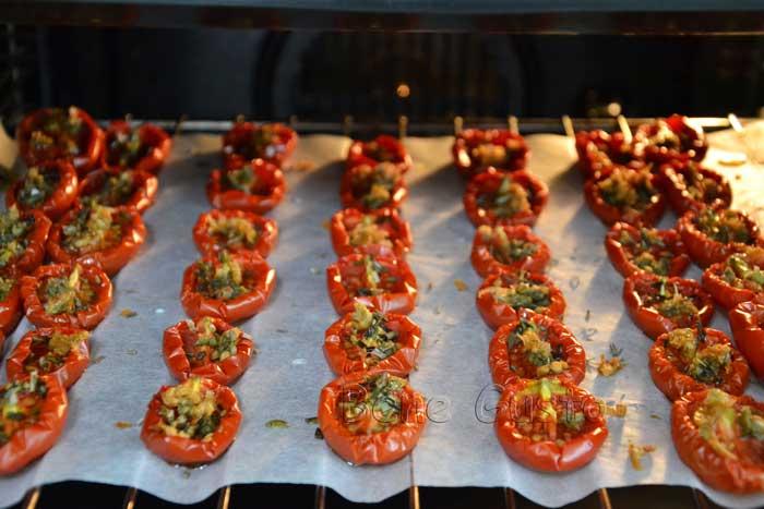 сушим томаты с чесноком