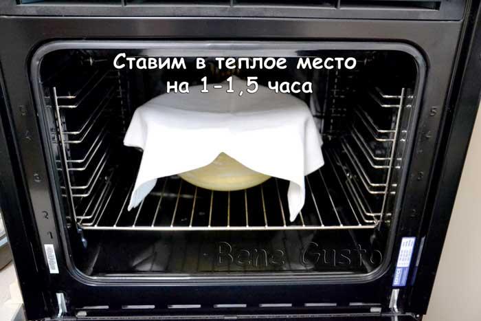 выстаиваем тесто на кулич