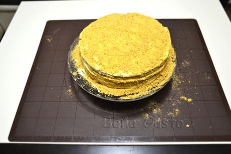 Ленивый торт медовик