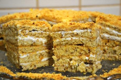 торт медовик без раскатывания коржей
