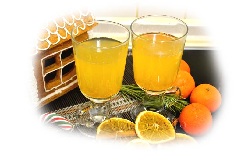 как приготовить глинтвейн с апельсинами и мяной