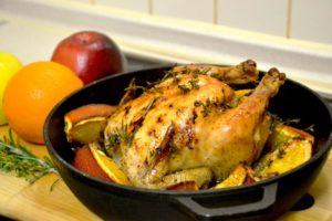 цыпленок в духовке с апельсинами