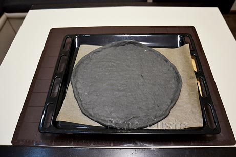 черная основа для пиццы
