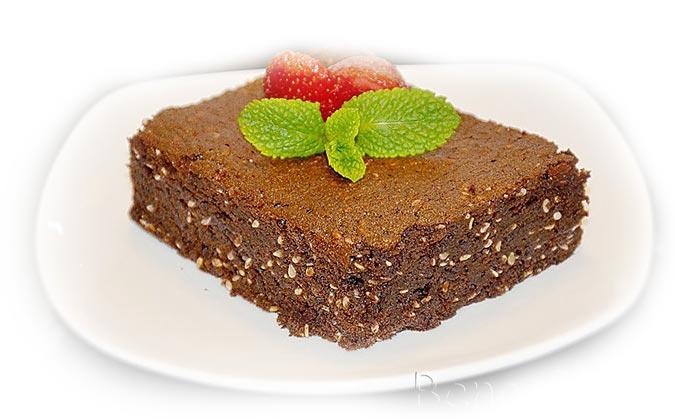 шоколадный пирог брауни с васаби