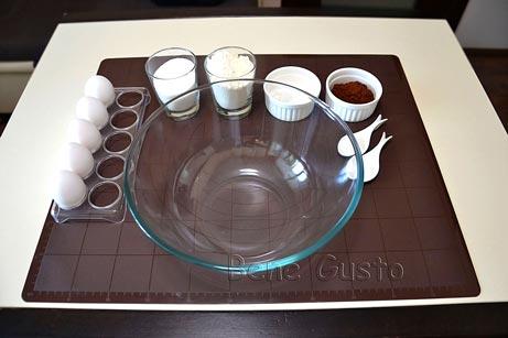 ингредиенты на рецепт шоколадный бисквит