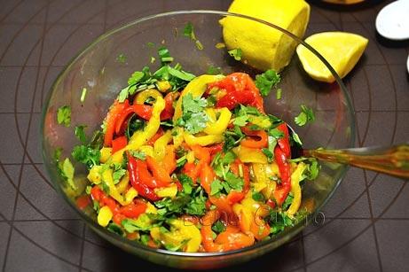 витаминный салат с болгарским перцем