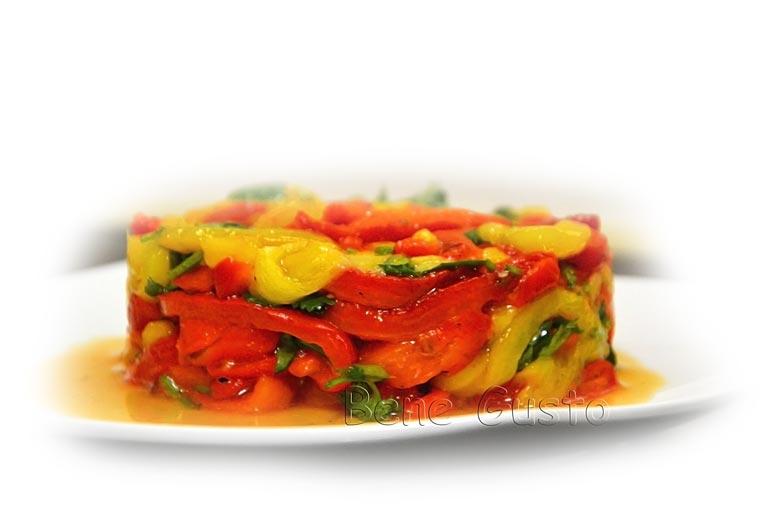 рецепт теплого салата из перцев