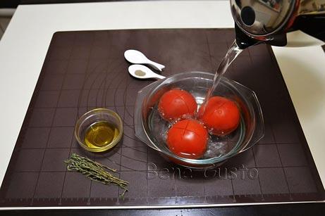 бланшируем помидоры