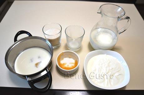 в молоко добавляем набухший желатин