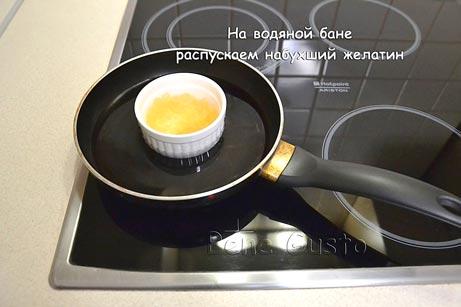 растворить желатин на водяной бане