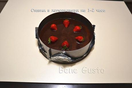 сливочно-шоколадный торт суфле