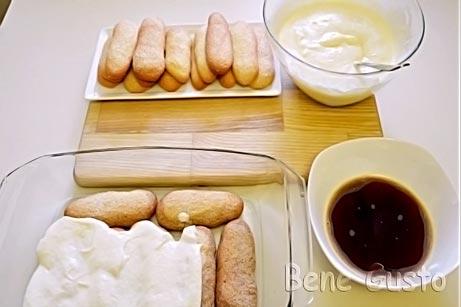 десерт тирамису с кремом маскарпоне
