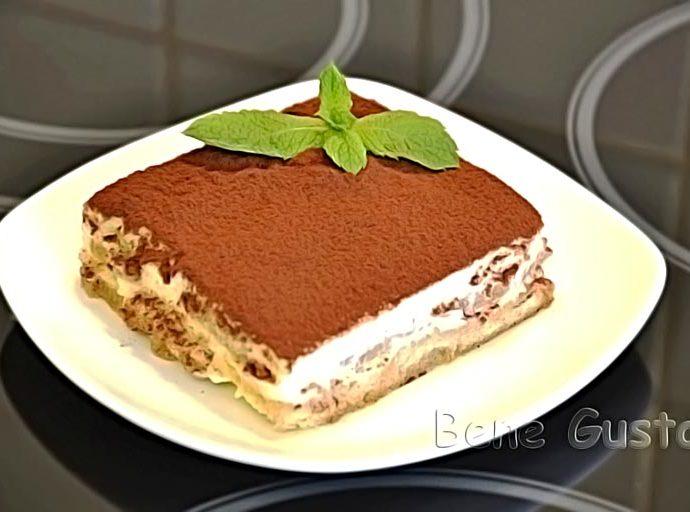 Классический торт Тирамису с маскарпоне