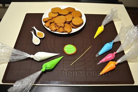 как украсить имбирное печенье