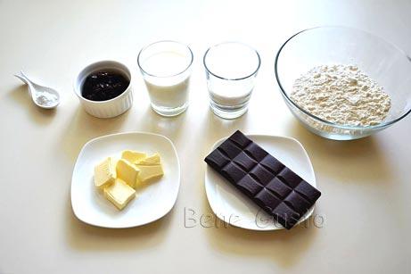 ингредиенты на рецепт шоколадные кексы