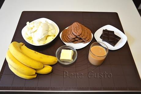 ингредиенты на бананово шоколадный десерт