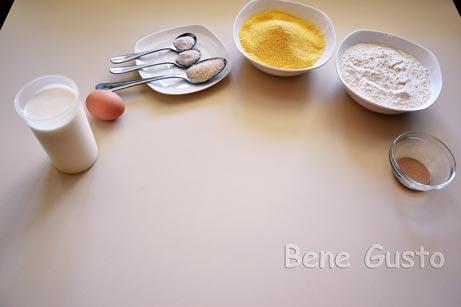 ингредиенты на кукурузный хлеб
