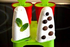 домашнее сливочное мороженое пломбир без перемешивания