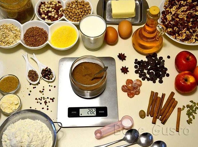 Таблица мер и весов продуктов: в стаканах и ложках