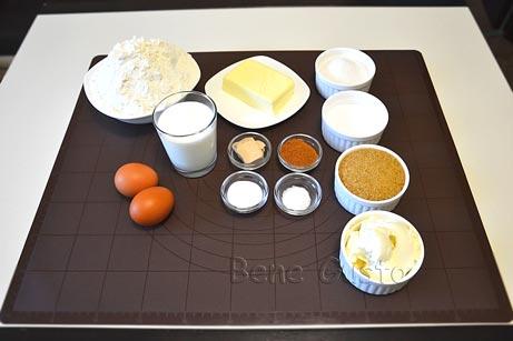 інгредієнти до рецепту булочка з корицею