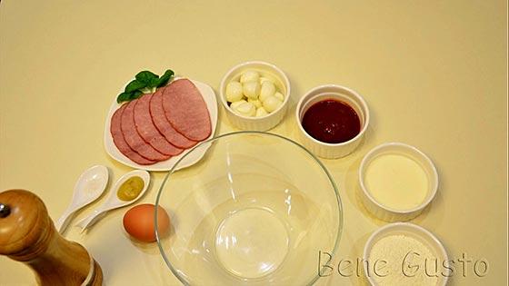 Ингредиенты на рецепт пицца на сковороде