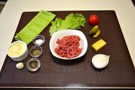 Ингредиенты на рецепт домашняя шаурма