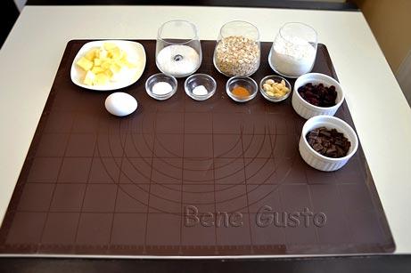 Ингредиенты на рецепт домашнее овсяное печенье
