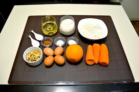 Ингредиенты на морковный пирог