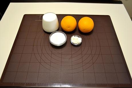 Ингредиенты на домашнее апельсиновое мороженое