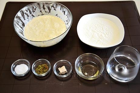 Ингредиенты на рецепт чиабатта