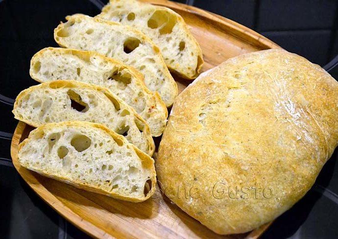 Итальянская чиабатта быстрый рецепт