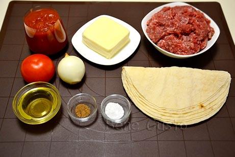 Ингредиенты на ленивую лазанью в духовке