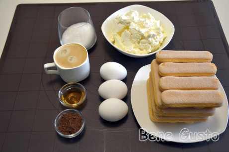 Ингредиенты на тирамису домашний