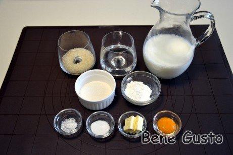 Ингредиенты на турецкий десерт Сютлач