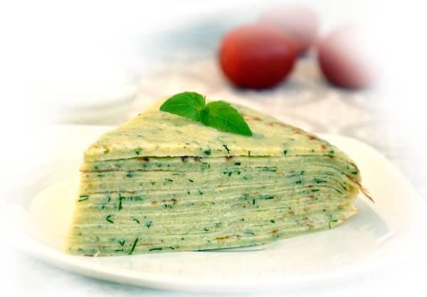 Млинцевий торт з кабачків