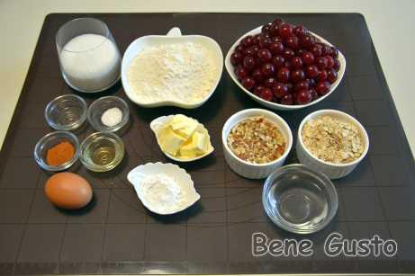 Ингредиенты на вишневый штрудель