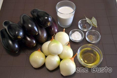 Ингредиенты на баклажаны со вкусом грибов
