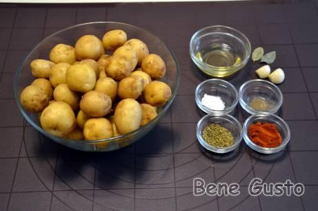 Інгредієнти на рецепт хрустка молода картопля