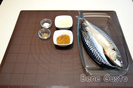 Ингредиенты на запеченную скумбрию в  духовке