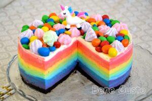 Торт радуга без выпечки