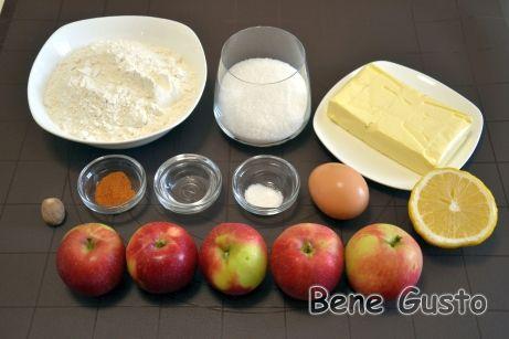 Ингредиенты на рецепт американский яблочный пирог