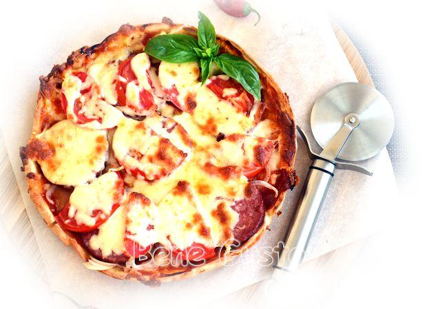 Быстрая пицца на сметане