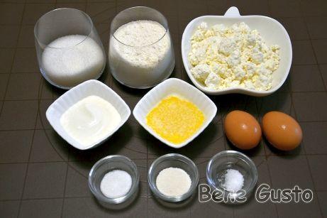 Ингредиенты на быстрые творожные кексы