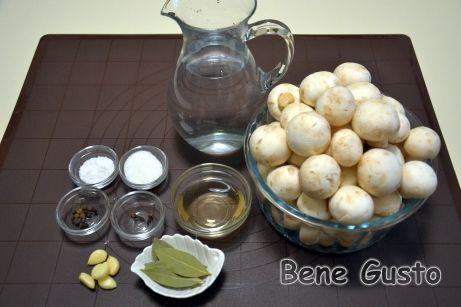 Ингредиенты на маринованные шампиньоны