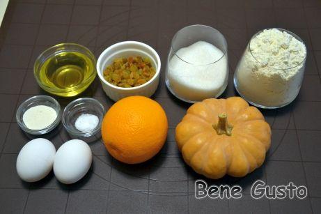 Ингредиенты на Тыквенный кекс с изюмом